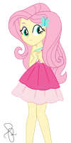 EQG Series  - Fluttershy in resort party wearing by ilaria122