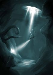 Uncharted Underwater Cave by The-Spirit-Reaper