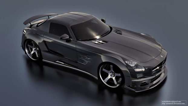 Mercedes SLS AMG Black Series TUNING by mcmercslr