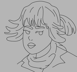 Rose Tico Lineart - Star Wars the Last Jedi by Artsomethingx