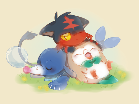 New Pokemon Starters by 46san