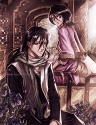 Bleach - Byakuya and Rukia by keelerleah