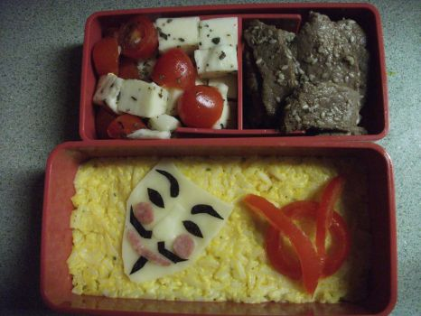 V For Vendetta Bento Lunch by IoniaFreak