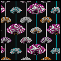Stylized flowers wallpaper 2 by PajkaBajka