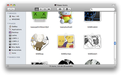 Kaws folder icons for Mac by datboyct