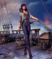 Pirate Lady by RicoCilliers