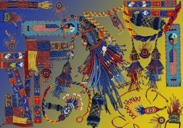 Beadwork collage by Refiner