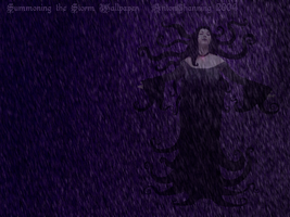 Summoning the Storm Wallpaper by AntonChanning