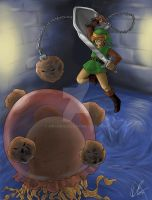 Link vs. Arrghus by mrgoggles