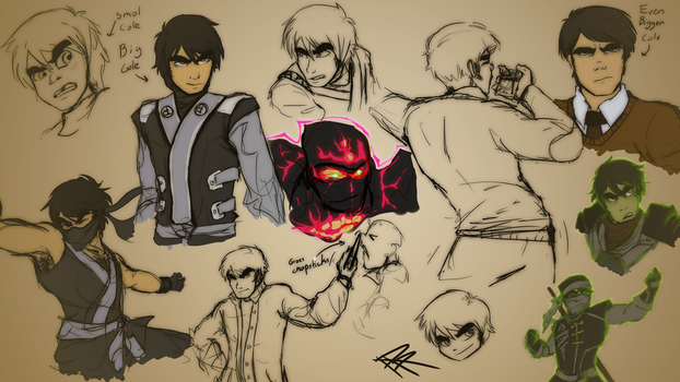 Cole Sketch Dump by RRproAni