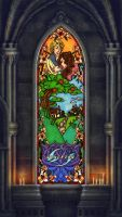 Stained glass window colab by ledious