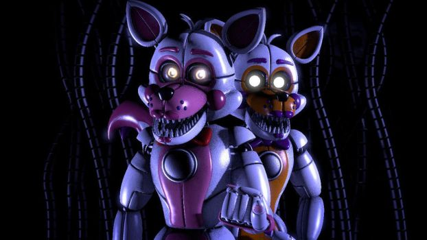 [sfm fnaf sl] Funtime foxy and Lolbit by TrapSfm2018