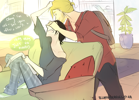 Thorki AU by blargberries