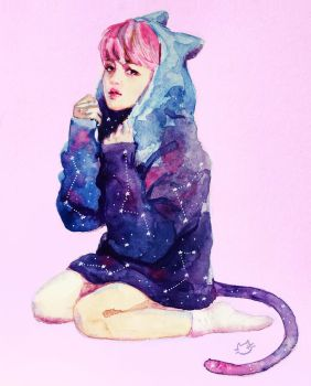 Jimin Space Cat by CatMag