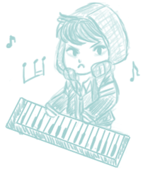 World's angriest keyboard player by sonikkuruzu