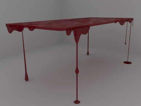 Blood Table by 3DBlenderSoul