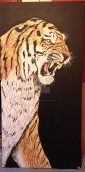 Tiger Painting by SessInSunglasses