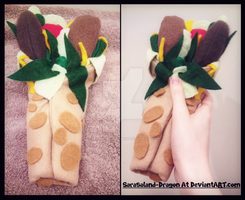 Commission: Burrito Plushie by Sarasaland-Dragon