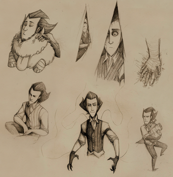 drawing on train (sketches) by TFresistance