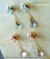 Dewdrops earrings by littleorangetree