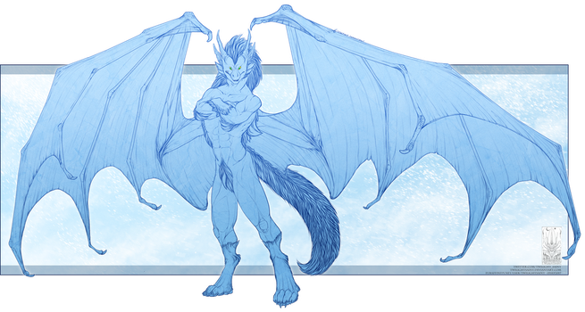 Lineart Comish - Frozen King by TwilightSaint