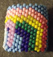 Unicorn Kandi Cuff backside by mintdawn