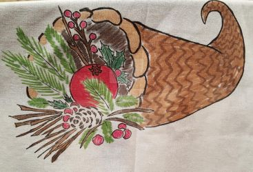 Cornucopia on Fabric by Paws-for-a-Moment
