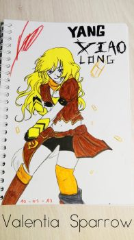 RWBY - Yang Xiao Long by valentia-sparrow