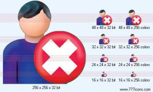 Delete patient-man Icon by medical-icon-set