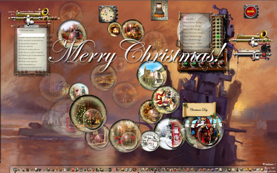 Musical Christmas Advent Bauble Widgets by yereverluvinuncleber