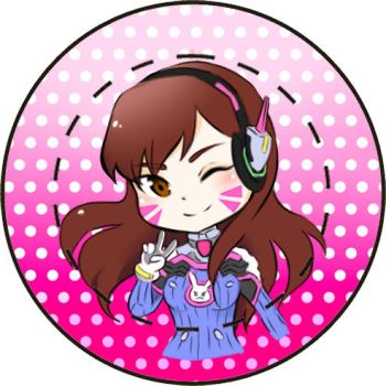 D.Va Button by Melody-in-the-Air