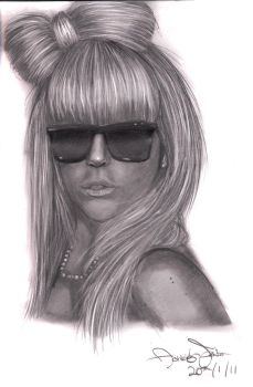 Lady GaGa Portrait by celloismistic