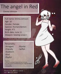 Creepypasta - The angel in Red - NEW ref Sheet - by Deaki-chan
