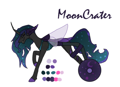 SOLD - MoonCrater by TheBigEarredBat