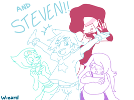 Steven and the ston- I mean GEMS! by wizardotaku