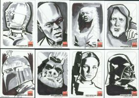 Star Wars Galaxy 5 sketchcards by Soatney