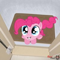 Pinkie at Your Door by Royal-Flush-Pony