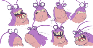 Tamatoa sketches by AllforCartoons