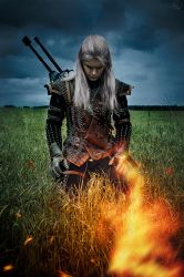 The Witcher 2 cosplay - Geralt of Rivia_3 by GreatQueenLina