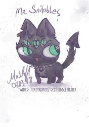 Mr. Snibbles demonic kawaii by Mademoiselle-Moder