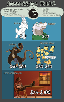 UPDATED - 2017 Commission Prices - OPEN by FeralGator