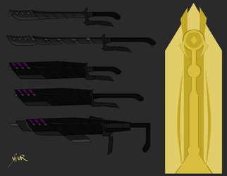 RWBY FC Weapon: Death Bearer Redone [UPDATED] by Shattered-Valor