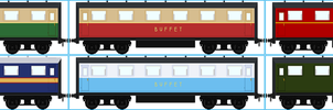 North Western Railway Buffet Cars by Galaxy-Afro