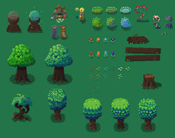 Galatia Forest Objects by RollToNotDie