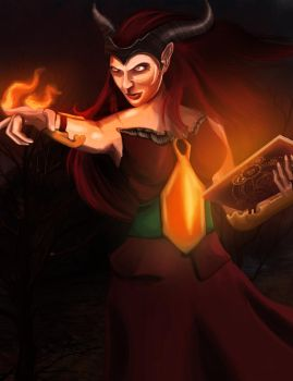 Fire mage by Emisys