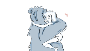 Bear hugs by KellMarie