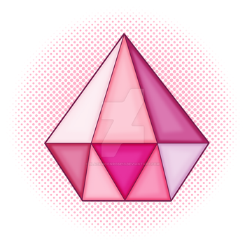 Pink Diamond Gem Version 2 by Blackmoonrose13