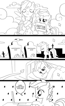 Scootaloo Forever- Page 1 by MrTenacious01
