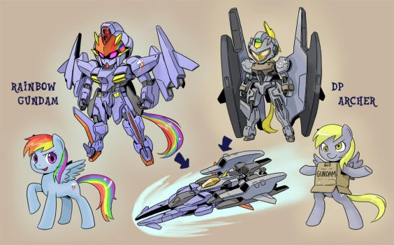 PONY GUNDAM 4 by shepherd0821