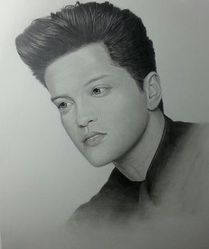 Bruno Mars Portrait Without Signature by CroixArt